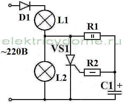 Схема переключателя двух